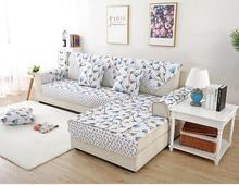 Combination sofa cushion, non-slip fabric 123 seasons embroidered cushion