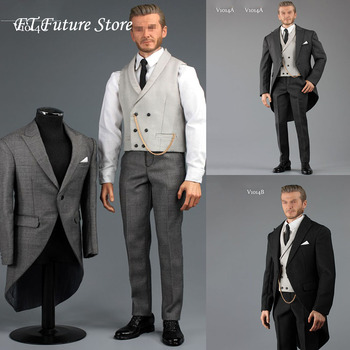 Collectible 1/6 Scale Male Figure Accessory Gentlemen's Royal Wedding Suit Clothes Set 3 Colors for 12'' Narrow Shoulder Body