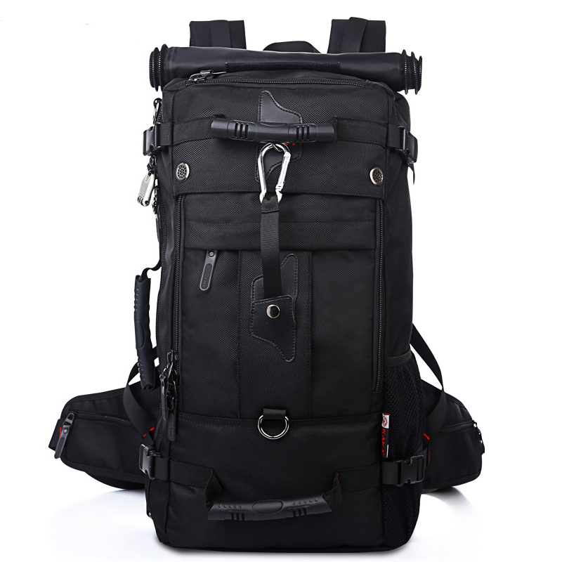 цена на high capacity waterproof 17 inch laptop backpack multifunction large travel bag for male mountaineering rucksack men luggage bag