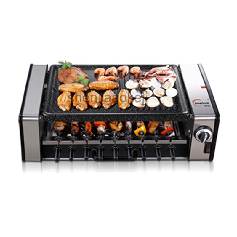 Household no-smoke barbecue pits Korean Commercial electric grills & griddles automatic electric barbecue machine non-stick 220vHousehold no-smoke barbecue pits Korean Commercial electric grills & griddles automatic electric barbecue machine non-stick 220v