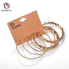 ФОТО danze hot sale big circle stainless steel woman hoop earrings set for women nickel free party brincos aros 3 pairs/lot