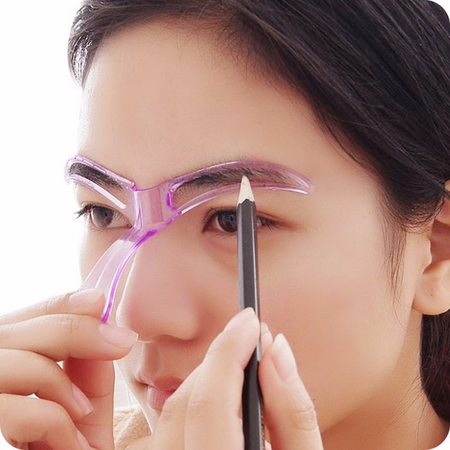 Eyebrow Template Stencil Grooming Shaping Helper DIY Makeup Tool Beauty Make up Kit Reusable Eyebrow Drawing Guide Template