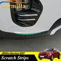 Car Front Lower Anti Scratch Trims 2 Pieces/set Stainless Steel Sticker For Kia All New Sportage New Sportage QL KX5 2017 Acc.