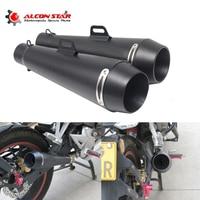 Alconstar 51mm мотоцикл выхлопные трубы глушителя M4 большой объем изменение трубы для Yamaha R6 для Kawasaki M4 для Honda CBR
