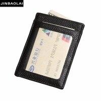 2016Casual Card Holder Leather Wallet Brand Men Slim Front Pocket Card Case Credit Super Thin Fashion