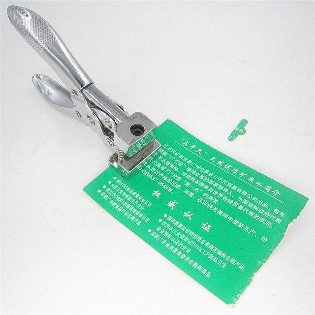 T Forme De Fente Coupe Perforateur Pince Trou Papier PVC En Plastique ID Carte