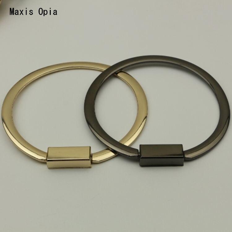 (5 pieces/lot)Gunmetal Light gold Metal bag handle accessories hardware accessories DIY Metal Purse Frame Obag Purse Handles