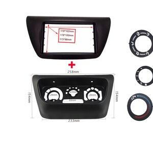 Image 2 - 2 din painel de rádio do carro fáscia apto para 2006 mitsubishi lancer ix facia dvd quadro + centro controle ac capa guarnição moldura instalar kit