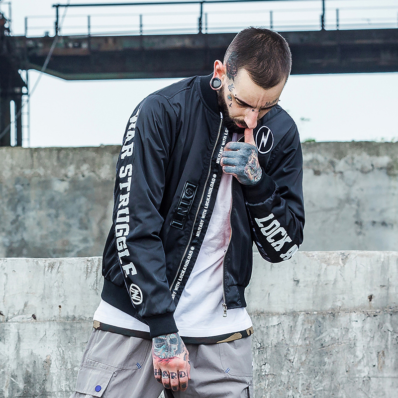 Fashion Men Bomber Jacket Hip Hop Designs letter Fit Pilot Bomber Jacket Coat Men Jackets Plus Size Streetwear Vintage Jacket