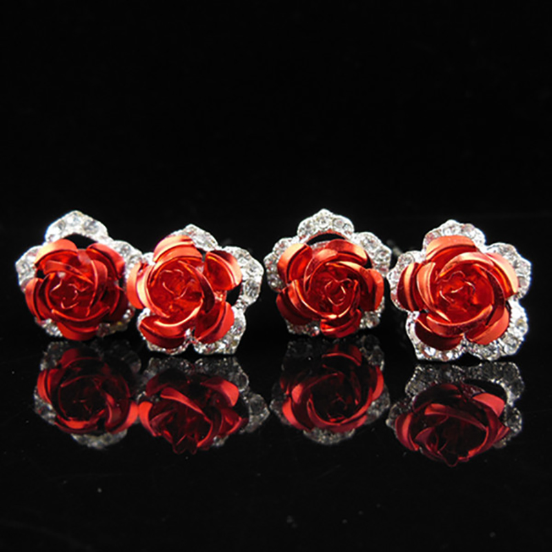 2pcs  Promotion Plant Popular Hairpin Brides Hair Pins Clips Combs Bridesmaid Flower Jewelry Accessories