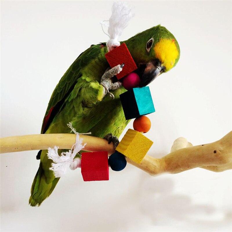 Pet Bird Toys : Pet bird bites colorful toy parrot chew cube toys new