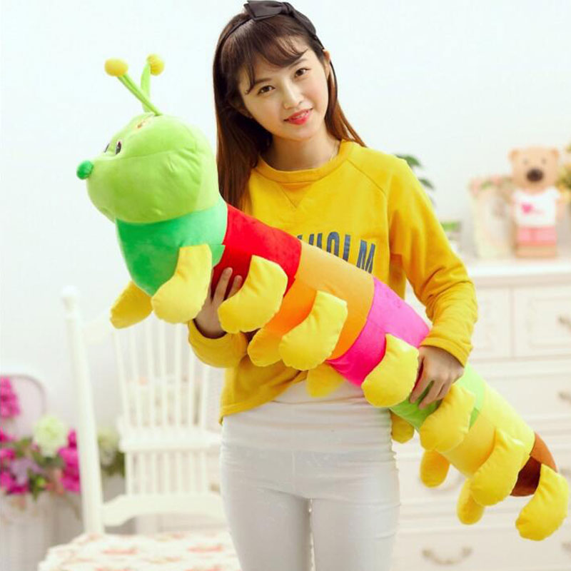 120cm Kawaii Colorful Caterpillar Doll Plush Toys Stuffed Animals Plush Toys  For Kid's Christmas Gifts