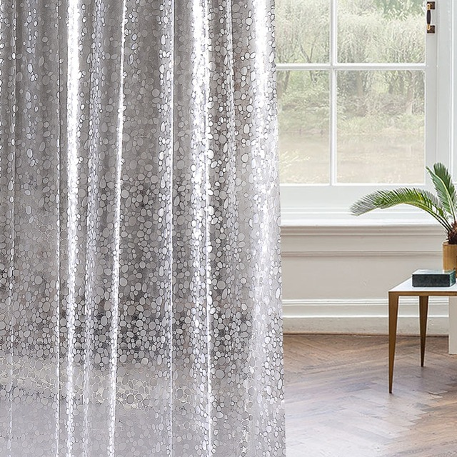 3D Cobblestone Curtain Shower Premium 100 Waterproof PVC Translucent