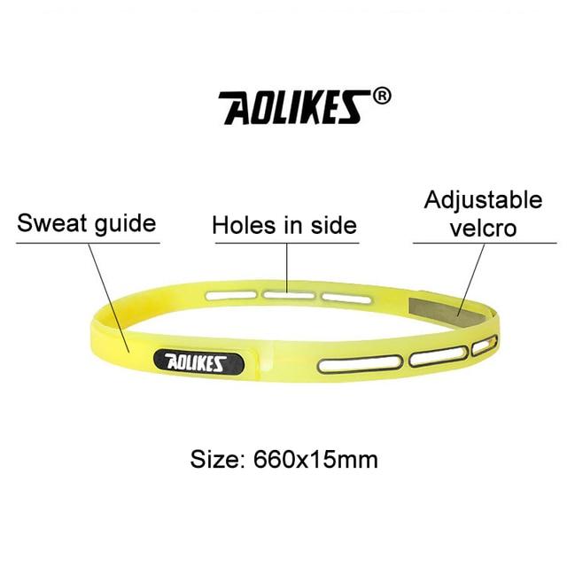 Outdoor Sports Fitness Yoga Running Headband Adjustable Silicone Headwear Hairband Forehead Belt Sweat Absorb Proof Men Women 5