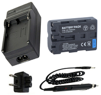 Battery + Charger for Sony NP FM500H, NP FM500H and Sony CLM V55, Alpha SLT A57,A65,A65V, A77, A77V, A99,A99V Digital SLR Camera