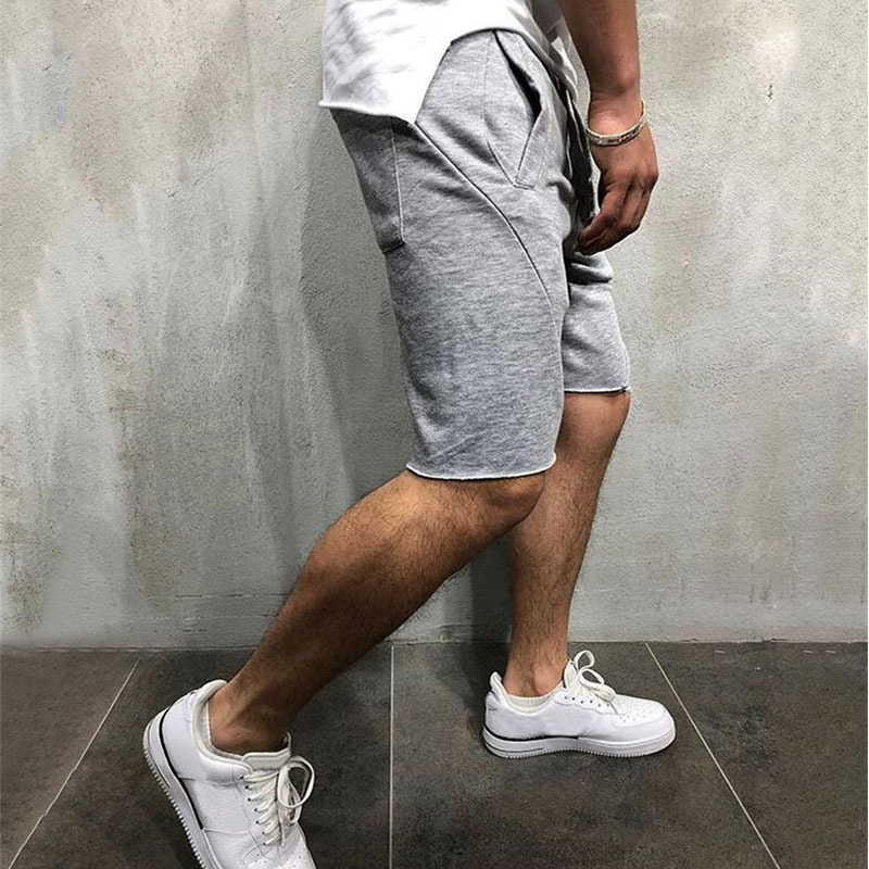 2019 Summer European And American Fashion Fitness Gym Shorts Men Running Shorts Loose Money Selling New Breathable Boys