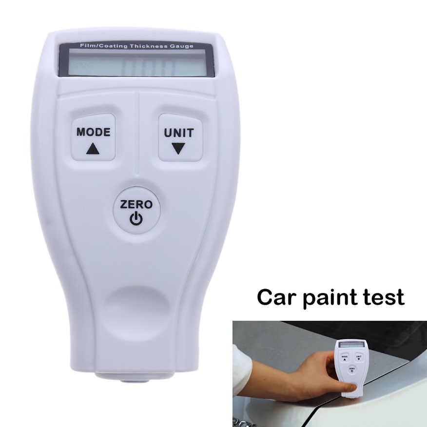 Rosyjska instrukcja w języku angielskim GM200 malowanie malowanie przyrząd do pomiaru grubości folia ultradźwiękowa Mini powłoka samochodu zmierz wskaźnik farby