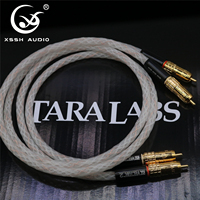 XSSH Audio Hifi 1 pair 1m TARA Labs RSC Vector 2 HIFI Interconnects Audio cable with Gold plated RCA plugs