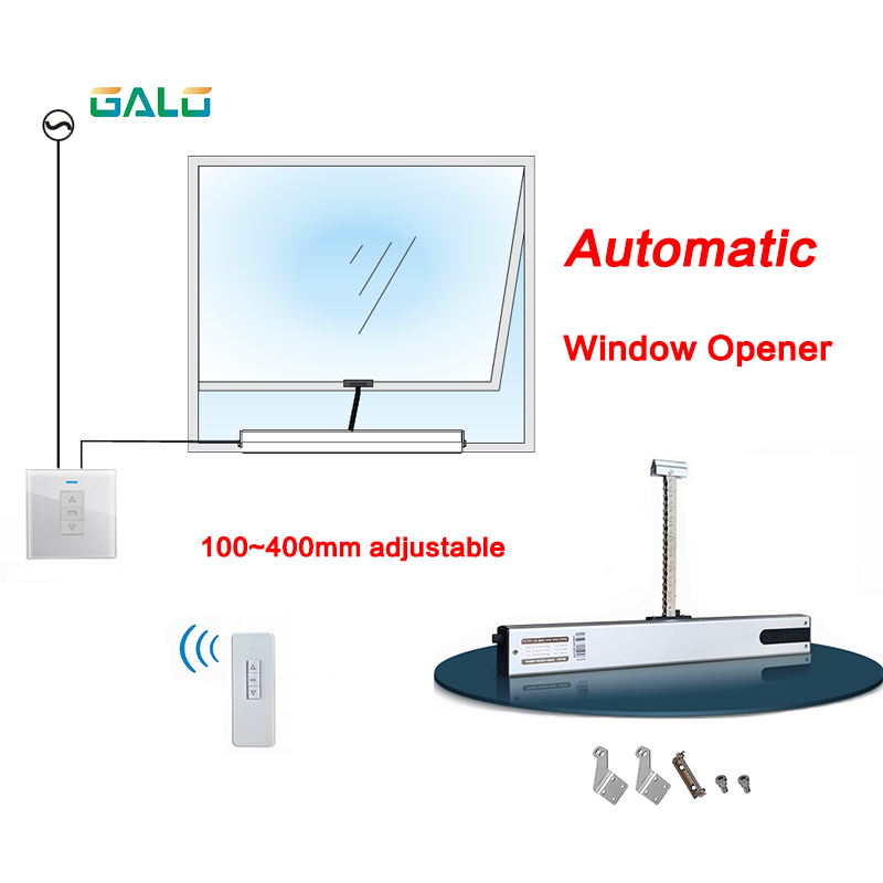 GALO Chain Window Opener,Remote Control Auto Window Opener(with Receiver And Remote Control)