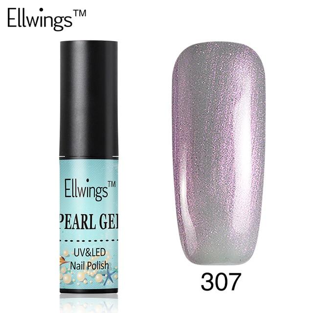 Ellwings conchas perla Esmaltes gel de uñas color unicornio Uñas de ...