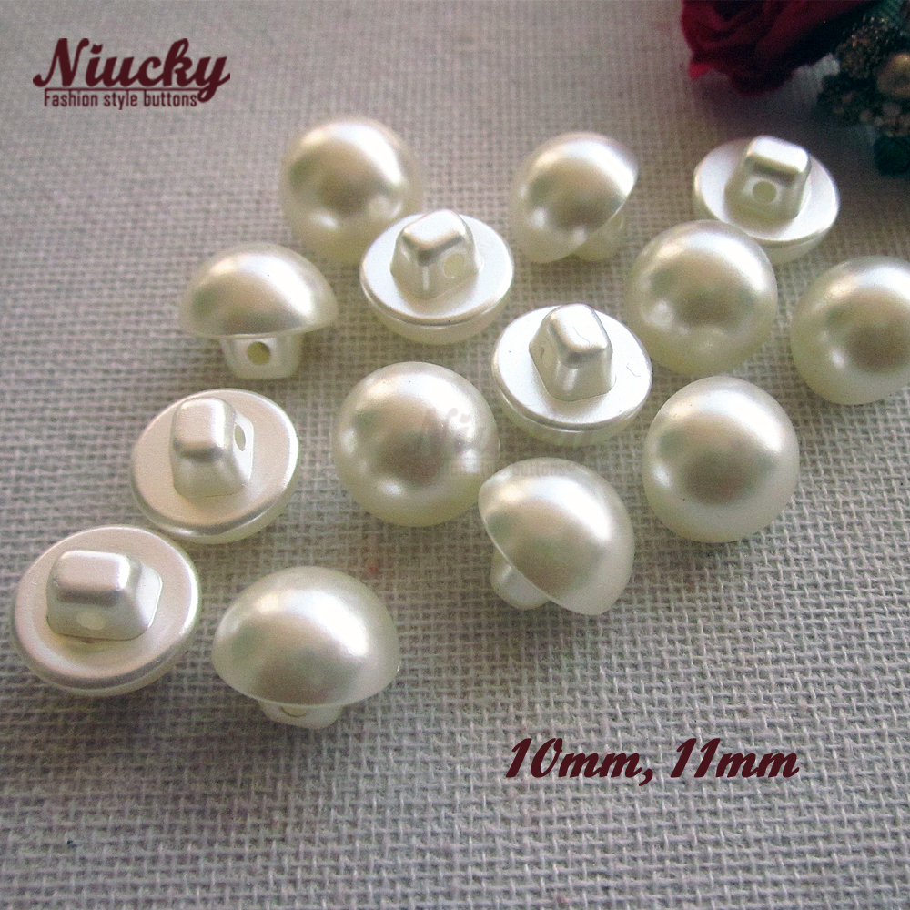 Niucky 10mm 11mm Shank Eco friendly Imitation pearl sewing buttons garment accessories diy craft materials supplies P0301 036 in Buttons from Home Garden