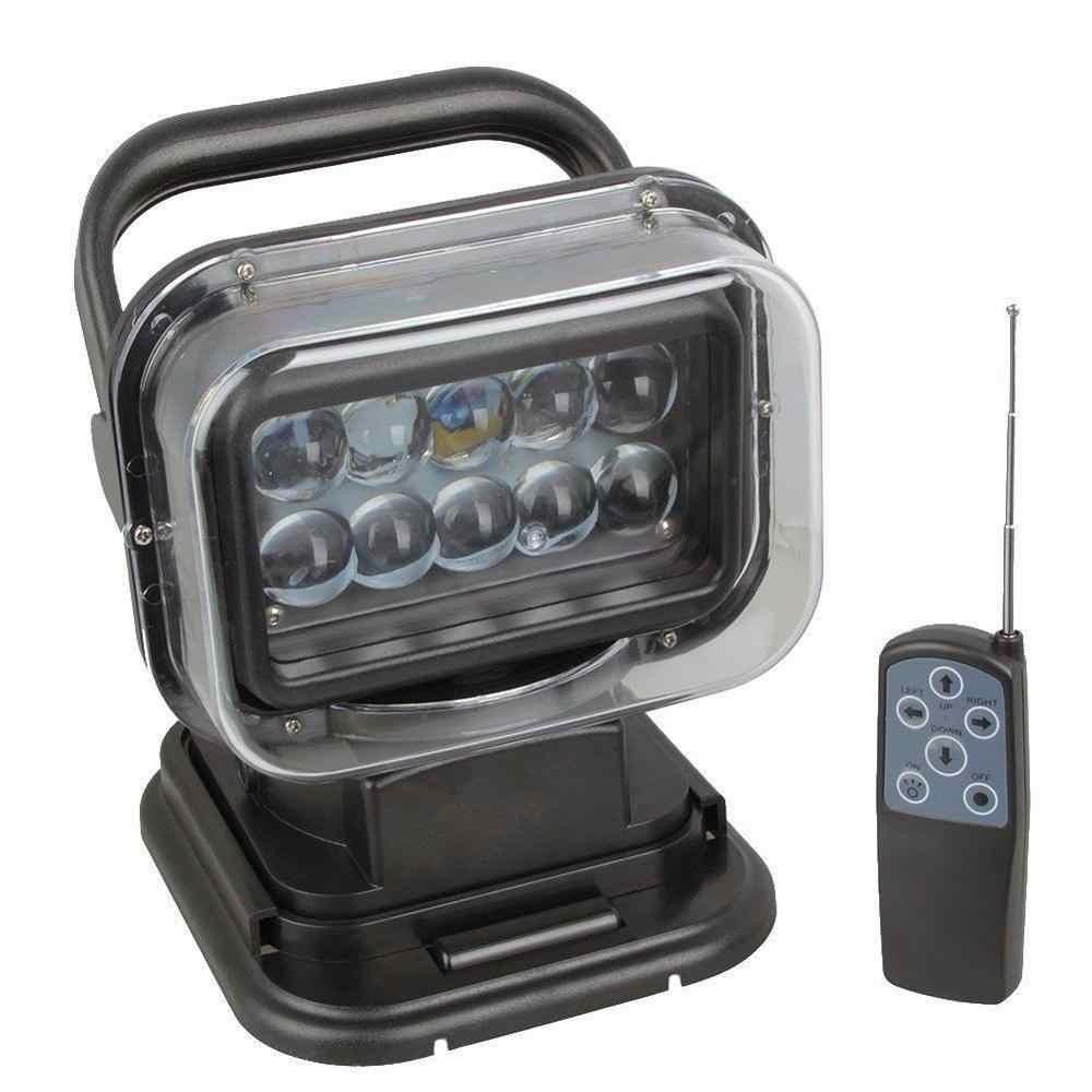 Afstandsbediening 12 V 24 V Auto schip marine LED Zoeklicht 12 v remote controlled 7 inch 50 W Hoge power LED Zoeklicht zoeken