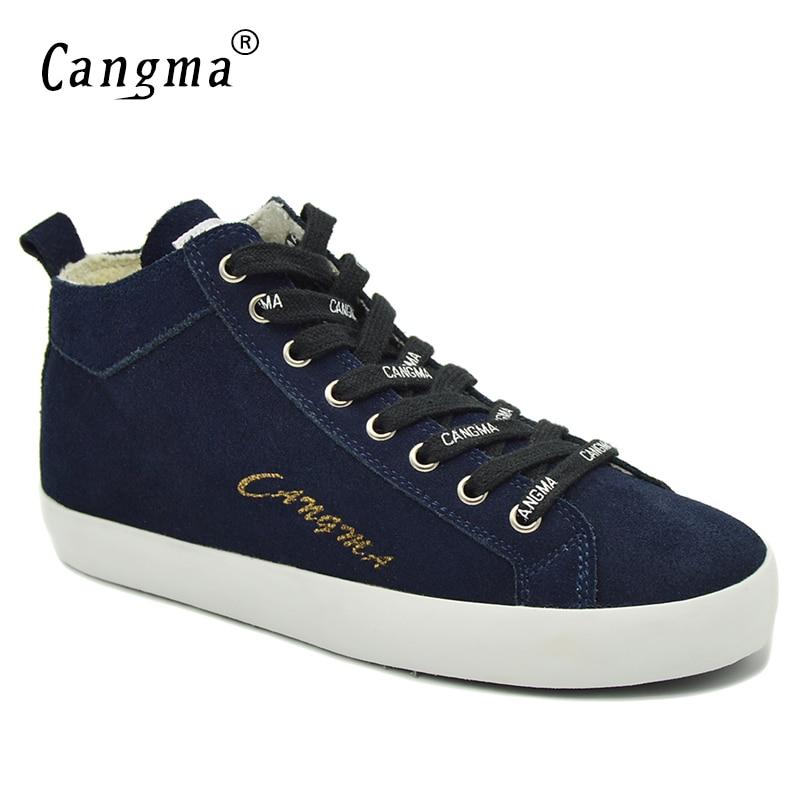 a7606d11a8b783 Aliexpress.com: Acheter CANGMA D'origine Lacent Chaussures En Cuir Véritable  Plate Forme Sneakers Femmes de Marine Bleu Casual Chaussures Mi Vache En  Daim ...