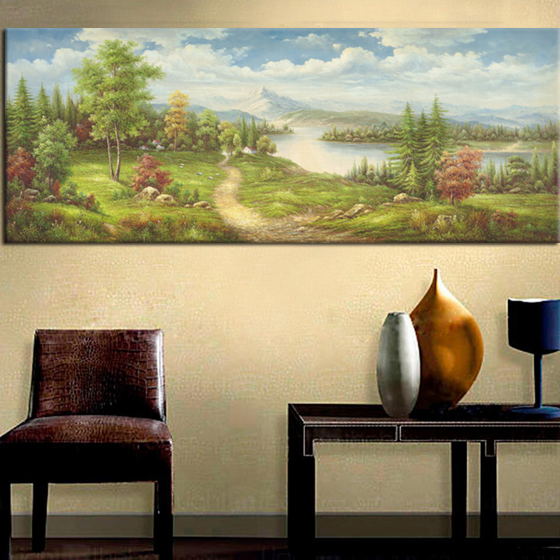 GenDi Wall Art Canvas Painting Pictures Thomas Landscape For Living ...