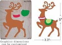 Christmas deer carriage wood moulds die cut accessories wooden die Regola Acciaio Die Misura