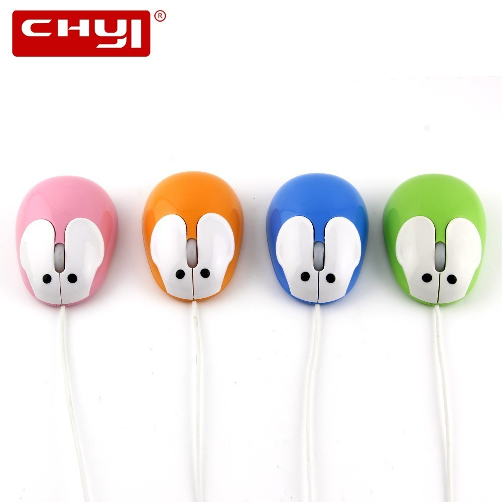 Mini Wired Computer Mouse Cute Animal Optical Usb Cable Mause Lovely Cartoon Rabbit Portable Pink Gift Mice For Kids For Laptop