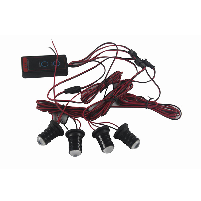 1 Pcs 4W Car LED Grill Light Eagle Eye Emergency Strobe Warning 12V Flashing Lamp Red Blue