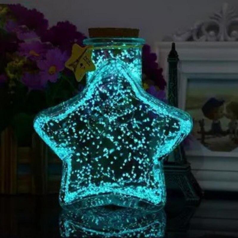 Hoomall Волшебная флуоресцентная светится в темноте светящиеся вечерние яркие краски звезда Желая бутылка частица светящийся песок подарки для детей