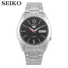 Seiko ساعة الرجال 5 ساعة أوتوماتيكية العلامة التجارية الفاخرة الرياضة الرجال طقم ساعات مقاوم للماء الميكانيكية العسكرية ساعة relogio masculinoSNK