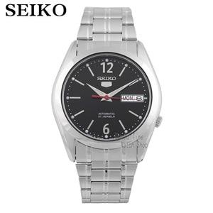 Image 1 - Seiko שעון גברים 5 אוטומטי שעון למעלה מותג יוקרה ספורט גברים שעון סט עמיד למים מכאני צבאי שעון relogio masculinoSNK