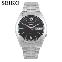 SEIKO watch shield on the 5th of steel men's table simple business casual automatic mechanical steel watch SNKE49K1 seiko automatic presage sarx019