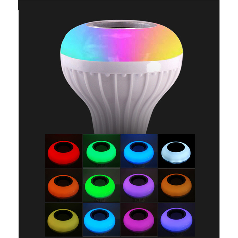 E27 Smart RGB RGBW Wireless Bluetooth Speaker Bulb Music Playing Dimmable LED Bulb Light Lamp with 24 Keys Remote Control portable professional 2 4g wireless voice amplifier megaphone booster amplifier speaker wireless microphone fm radio mp3 playing