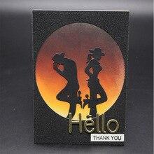 AZSG gentleman Cutting Mold DIY Scrapbook Album Decoration Supplies Clear Stamp Paper Card