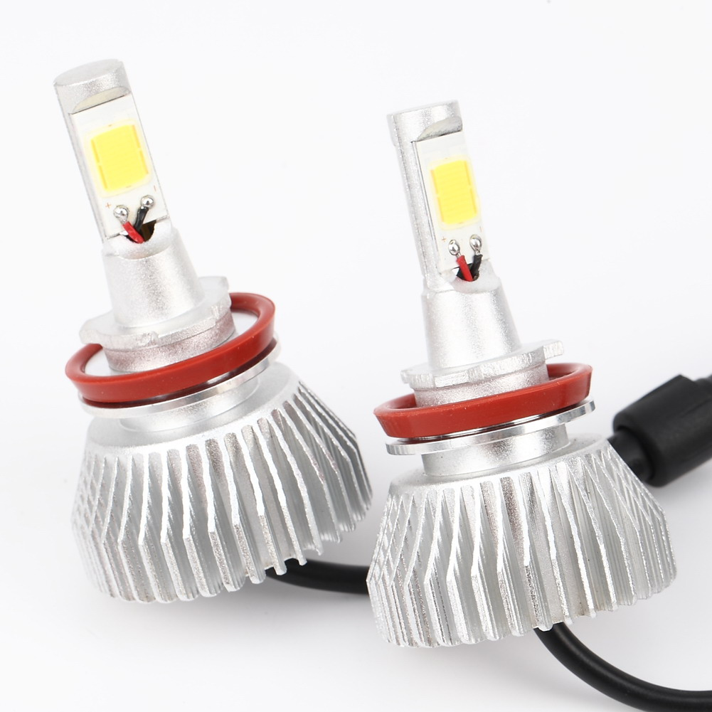 2x H11 6000Lm Led Beam 60W Car DRL Fog Headlight Driving Lamp Light Bulb Kit Cars Head Light Auto Front Bulb 2 x h11 90w 9600lm p7 led car headlight conversion kit driving fog lamp bulb drl 6000k car light sourcing d25