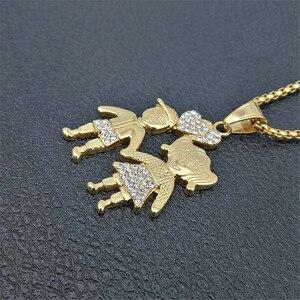 Image 5 - Colares de pingentes de casal, colar dourado para amantes, moda de 2020, meninos, meninas, casal, joias para mulheres, corrente de aço inoxidável