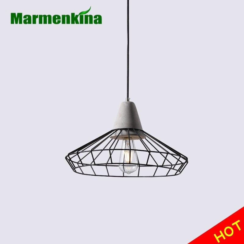 Marmenkina Loft Industrial Chandelier Simple Creative Wrought Iron Restaurant Handmade Cement Chandelier E27 110V 220V 230V