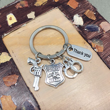 Key Chains Handcuffs Police Daddy Gifts Thanksgiving for PAPA Emblem