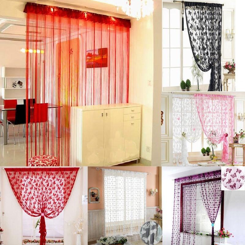 21m String Curtain Tassel Window Door Decor Panel Divider Yarn String Curtain Living Room Bedroom Kitchen (6)