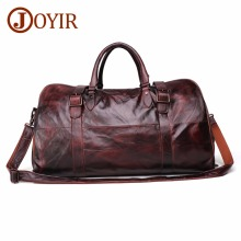 цена JOYIR Men's Handbag Travel Bag Genuine Leather Men Duffel Bag Luggage Travel Bag Large Capacity Leather Duffle Bag Weekend Tote онлайн в 2017 году