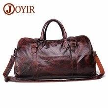 JOYIR Men's Handbag Travel Bag Genuine Leather Men Duffel