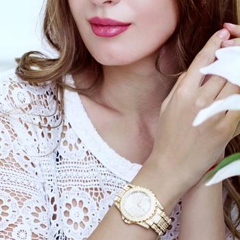 Women Quartz Watch Fashion Bling Casual Ladies Watch Female Quartz Gold Watch Crystal Diamond For Women Clock 4