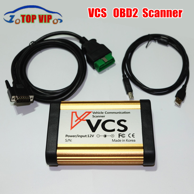 Best price Quality A+ VCS Scanner V1.5 OBD II 16 PIN Interface auto Vehicle Communication Scanner Better than TCS multi-language ...