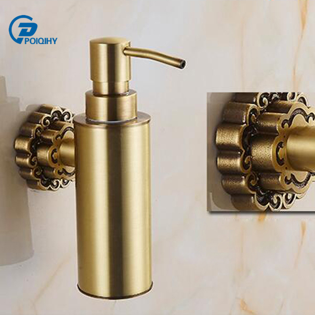 Poiqihy Liquid Soap Dispenser Wall Mounted Soap Dispenser Carving
