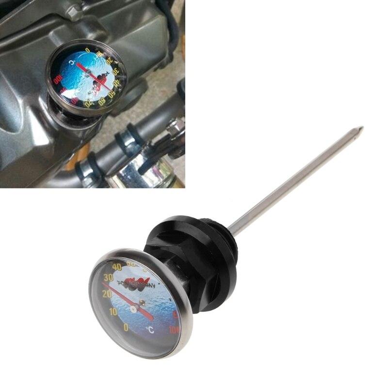 0 100 C Motorcycle Dirt Pit Bike Parts Oil Cap Tank Temperature Gauge For 110cc 125cc