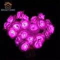 20 LED de Bateria Operado Flor Rosa Jardim de Fadas Luzes Da Corda para o Casamento Dos Namorados Natal Decoração de Interiores