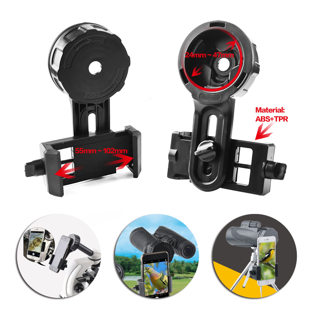 Smartphone Adapter - Telescope Adapter - Digiscoping Adapter for Spotting Scopes Binocular Monocular Telescope